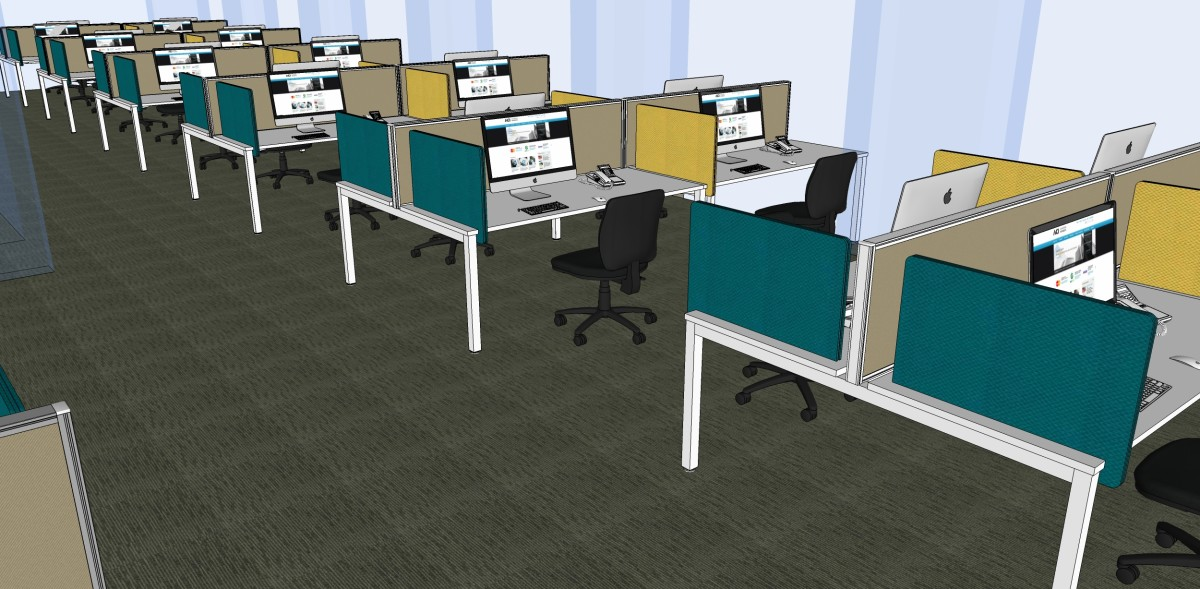 Commercial office designers aspect interiors interior for Office furniture layout tool