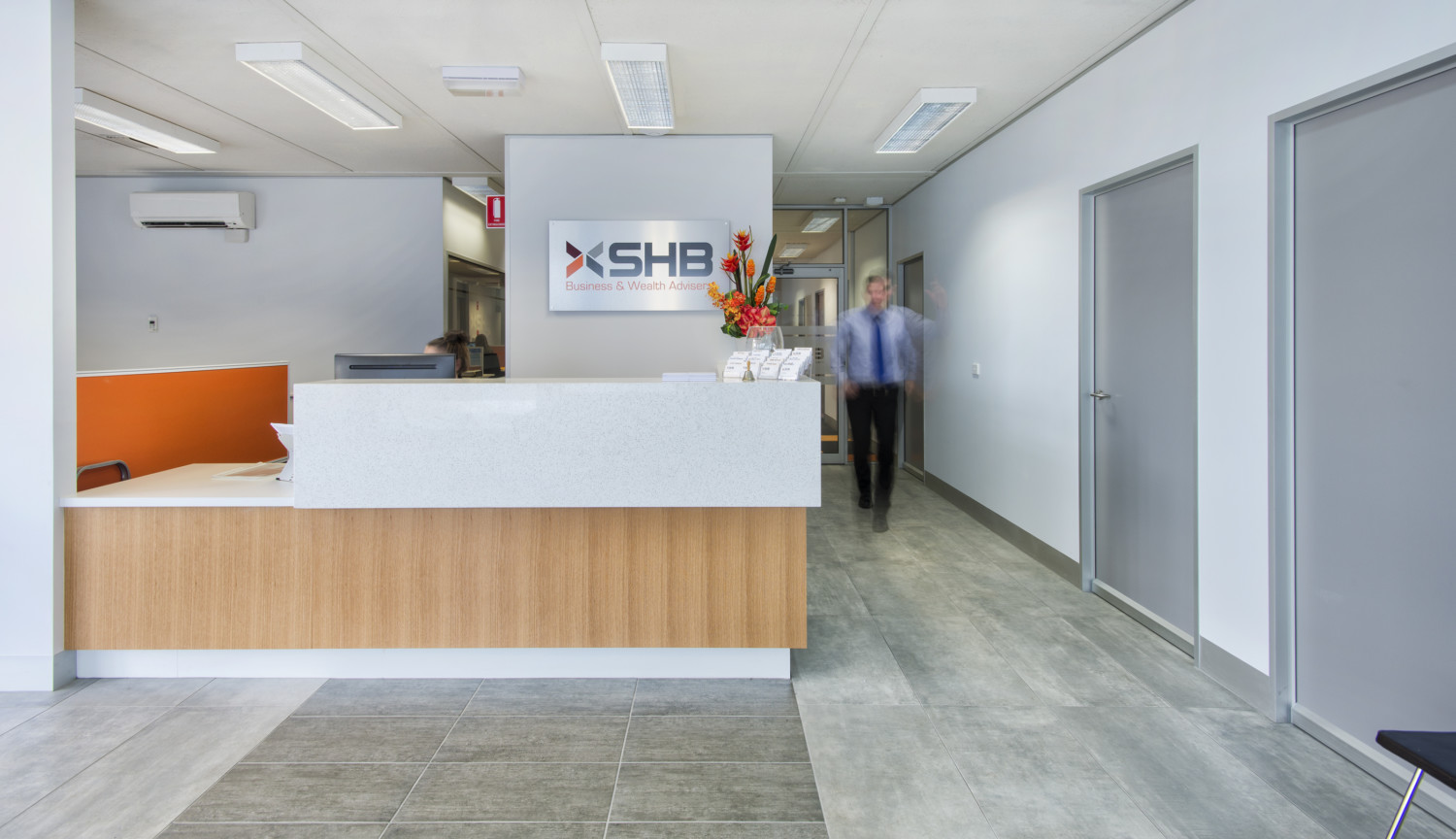Shb advisers aspect commercial interiors for Office interiors melbourne